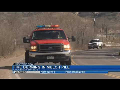 Fires Still Burning In Mulch Piles Along E. Las Vegas St.