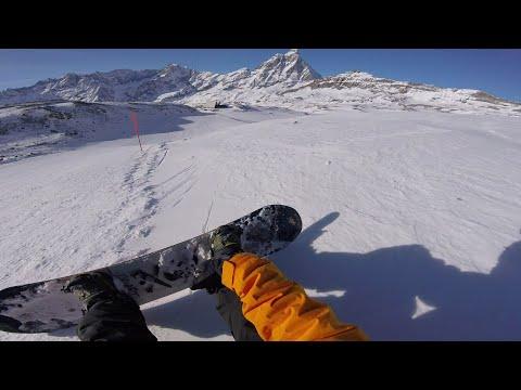 Cervinia Zermatt Snowboarding Feb 2016 GoPro HERO4 Session