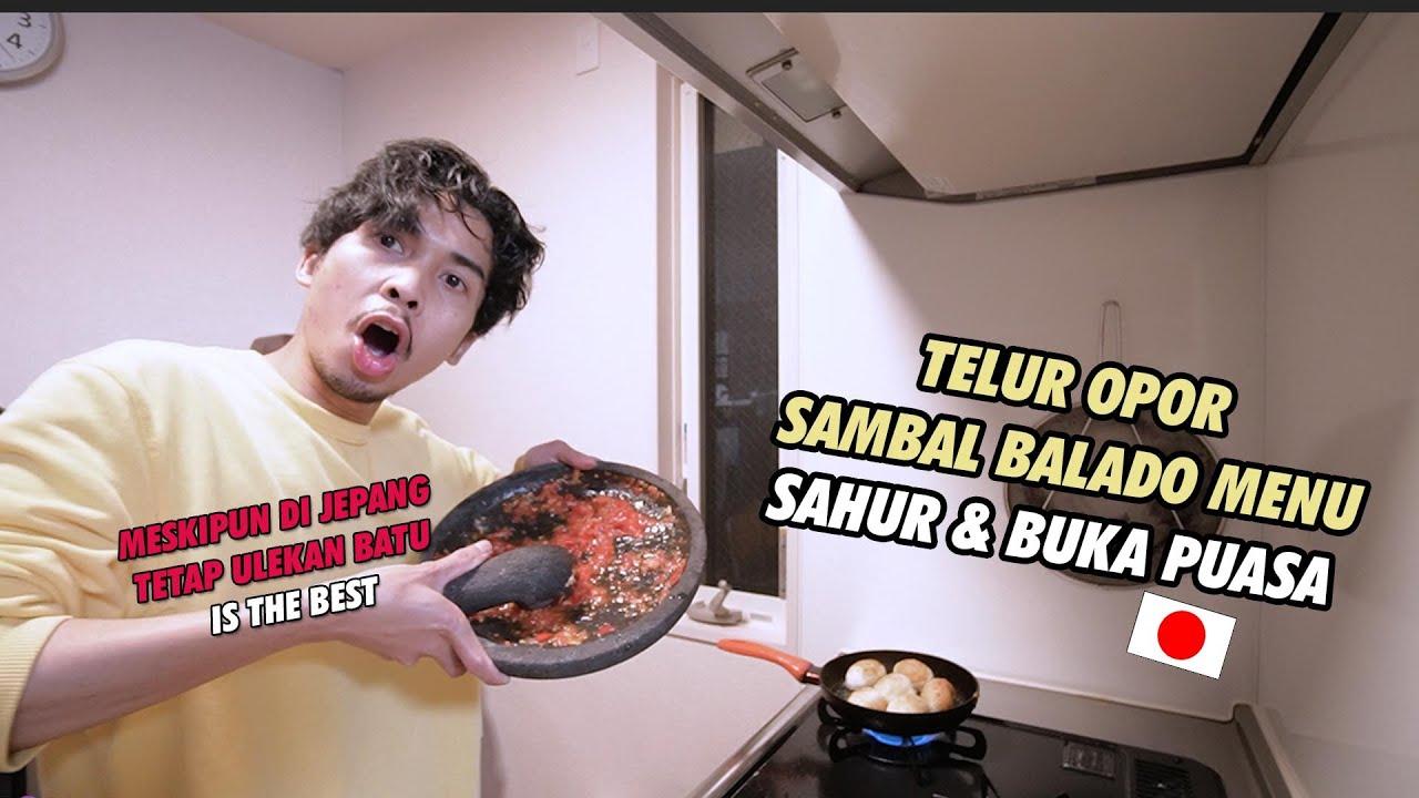 MASAKIN ISTRI JEPANG TELUR OPOR SAMBAL BALADO LEVEL ACKERMAN !