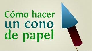 Cómo hacer un cono de papel |INNATIA.COM