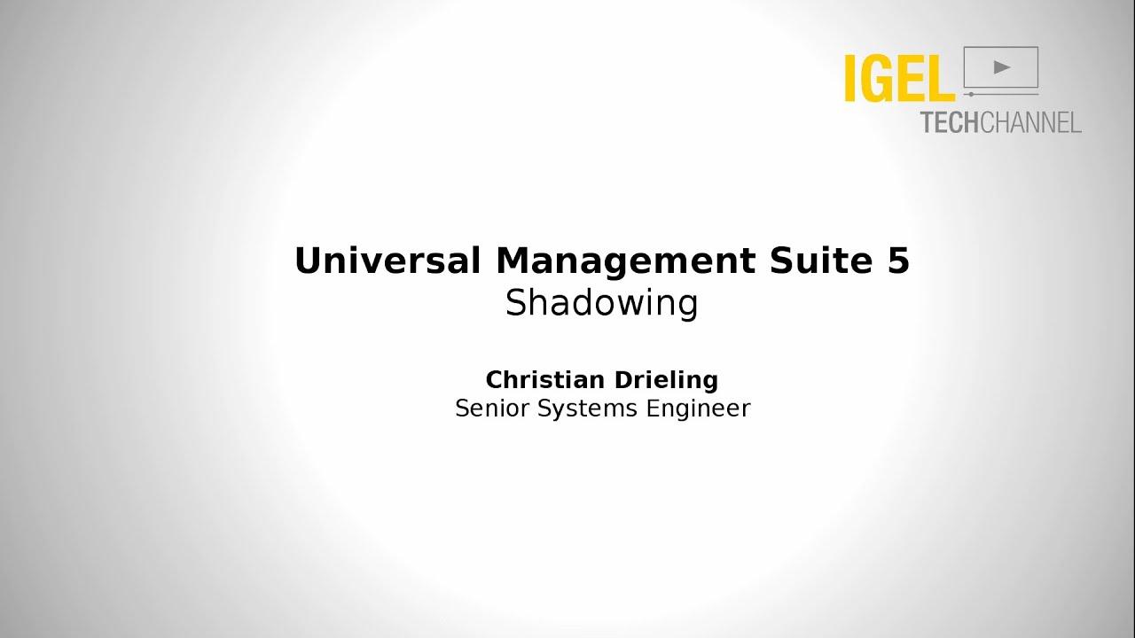 igel techchannel shadowing igel thin clients vnc edu  igel techchannel shadowing igel thin clients vnc edu 02 003