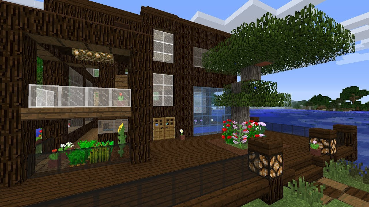 Minecraft: Lake House Design - YouTube