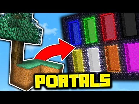 Minecraft THE PORTAL TO 8 ISLANDS!