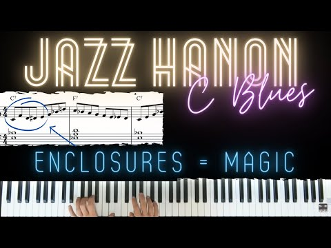 Jazz Hanon No. 3 - Bebop Blues Workout │Jazz Piano Lesson #21
