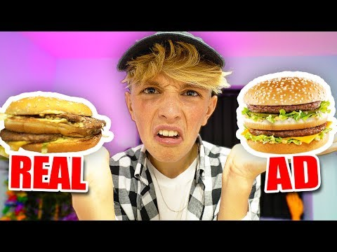 FAST FOOD ADS VS. REALITY EXPERIMENT!! (shocking)