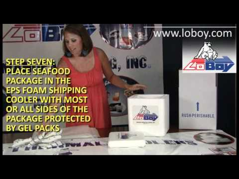 How To Pack And Ship Fresh Seafood For Overnight Delivery Using Styrofoam Shipping Coolers