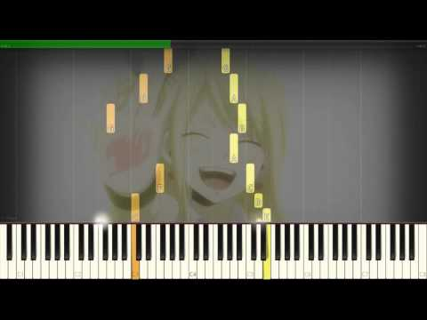 How to play Fairy Tail Golden Grasslands (フェアリーテイル) Piano Tutorial - Synthesia