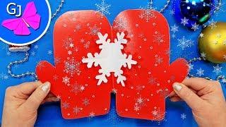 видео Как сделать открытку на Новый Год