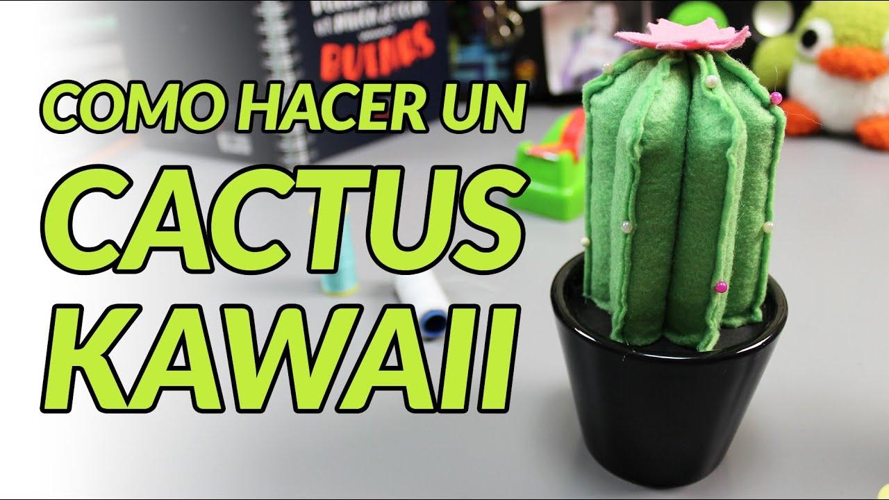 Manualidades paso a paso c mo hacer un peluche alfiletero cactus kawaii manualidades con - Manualidades de fieltro paso a paso ...