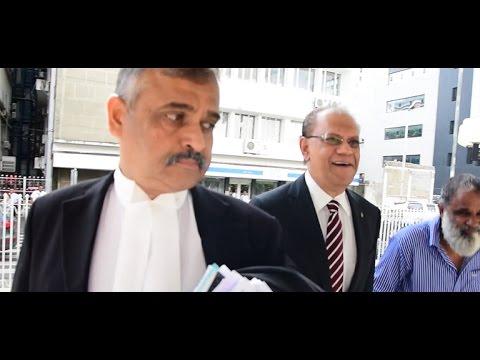 [Audio] Trois charges provisoires rayées, Ramgoolam confiant quant aux autres affaires contre lui