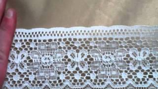 3 Rolls Vintage Antique Lace Fabric Trim Lot #93