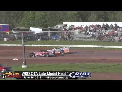 Proctor Speedway 6/26/16 WISSOTA Late Model Heat 1