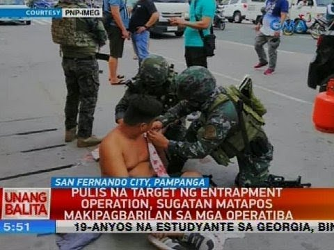 UB: Pulis na target sa entrapment operation, sugatan matapos makipagbarilan sa mga operatiba