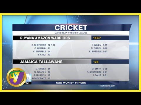 Guyana Amazon Warriors Beat Jamaica Tallawahs by 14 Runs - Sept 12 2021