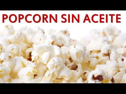 Como hacer palomitas de maiz sin aceite  / Low calorie Popcorn