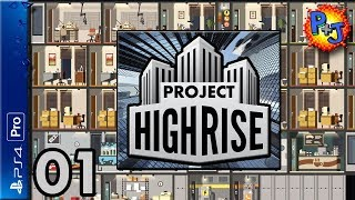 Let's Play Project Highrise: Architect's Edition | PS4 Pro Console Gameplay Part 1 (P+J)