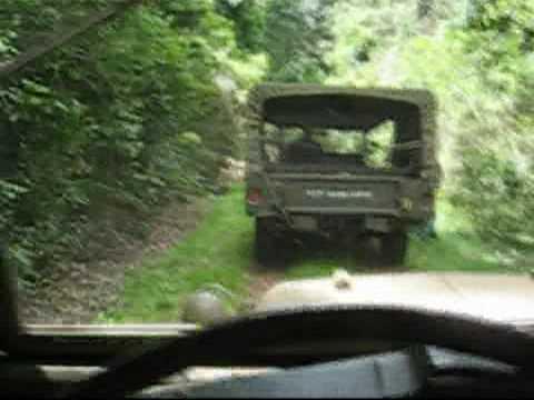 WWII jeep rainforest trip