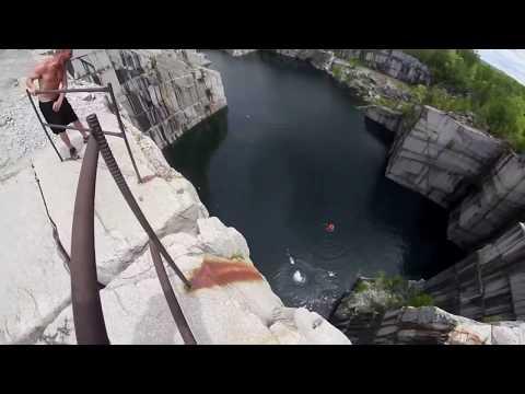 Triple Gainer 110 Foot Cliff Jump