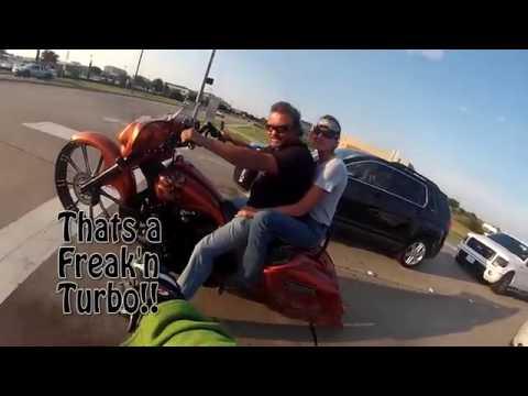 Badass Custom Turbo Charged Harley
