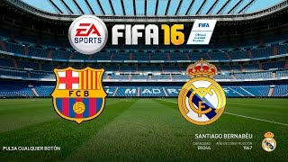 FIFA 16 FC Barcelona vs Real Madrid | FIFA 16 DEMO 1080p 60fps PC XboxOne PS4