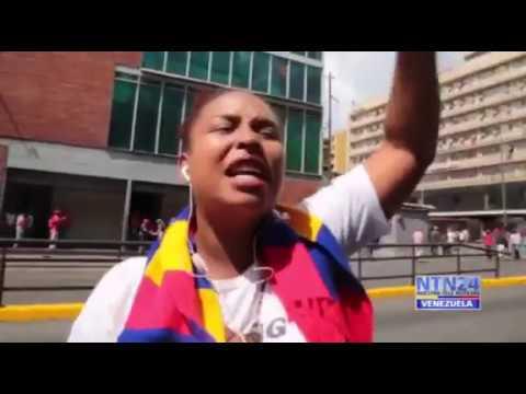 Rompe en llanto una chavista arrepentida tras la juramentación de Maduro