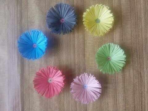 Paper Daisies Flower Making Process Step By Step Easiest Diy-Enlighten Crafts