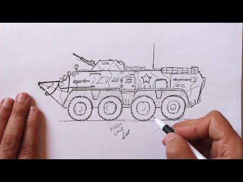 Как рисовать военную технику карандашом поэтапно