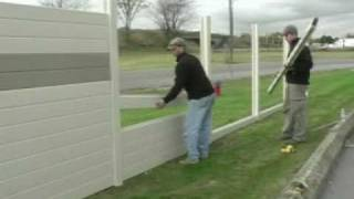 Tuf-Barrier Noise Barrier Wall Install - Residential