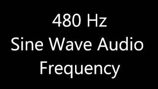 480 Hz Sine Wave Sound Frequency Tone