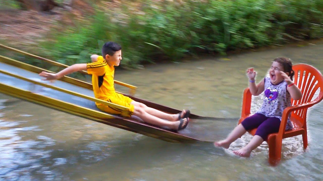 Celina and Hasouna at River trip - سيلينا وحسونة رحلة النهر
