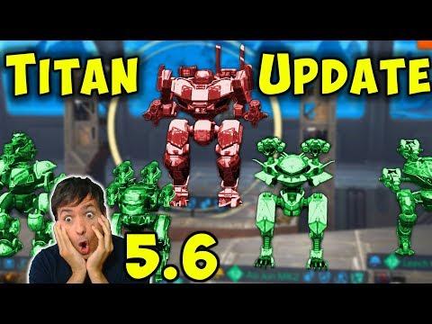 NEW TITAN UPDATE 5.6 - War Robots LIVE Stream Gameplay - WR Fun