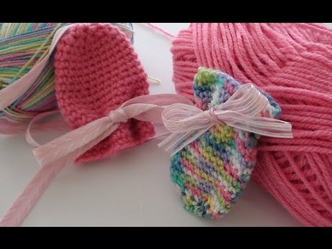 Knitting Pattern For Thumbless Mittens : Thumbless Crochet Baby Mittens - Crochet Baby Mittens - YouTube