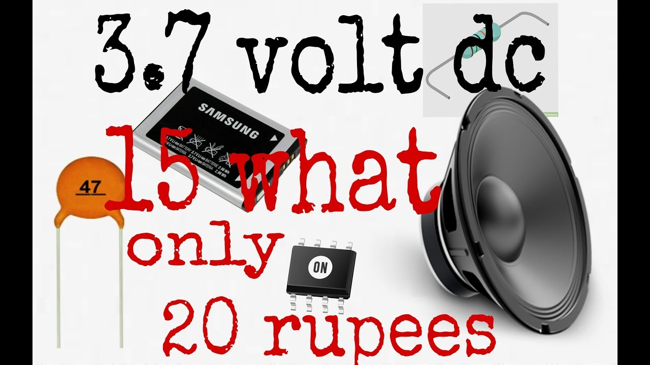simple audio amplifier circuit 3 7 volt in hindi 100 working  [ 1280 x 720 Pixel ]