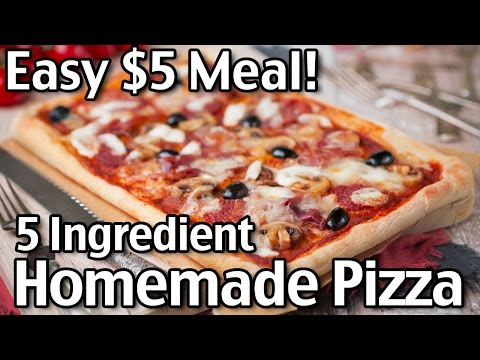 Easy 5 Ingredient Homemade Pizza