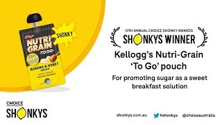 Kellogg's Nutri Grain 'to Go' Pouch – Choice Shonky Awards 2018
