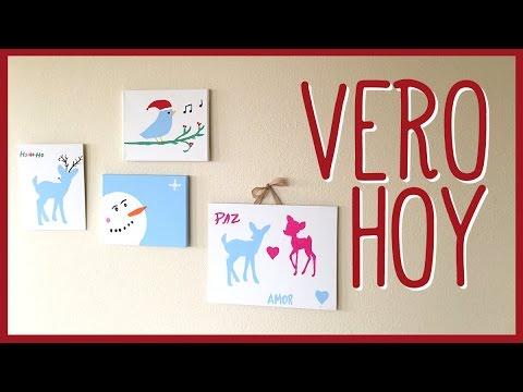 Diy pintemos nuestros propios cuadros para navidad youtube for Cuadros de navidad