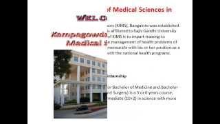 MBBS Admissions in Kempegowda Institute of Medical Sciences, Bangalore