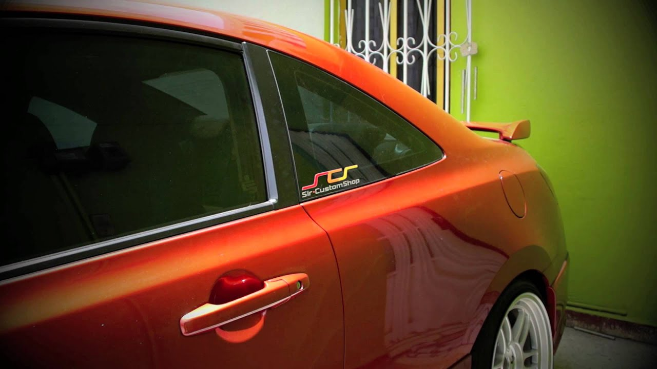 Honda Civic Si coupe (Redline orange pearl) - YouTube