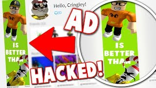 TAKING A YOUTUBER'S ROBLOX ACCOUNT (MAKING AN AD)