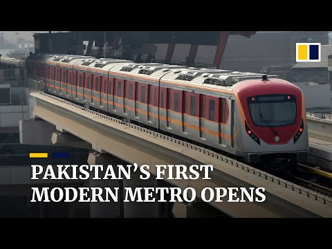 Pakistan's first modern metro opens in Lahore in US$1.86 billion project built with Chinese backing
