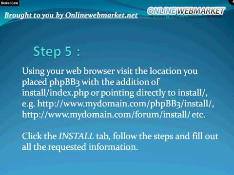 How to: Install phpBB