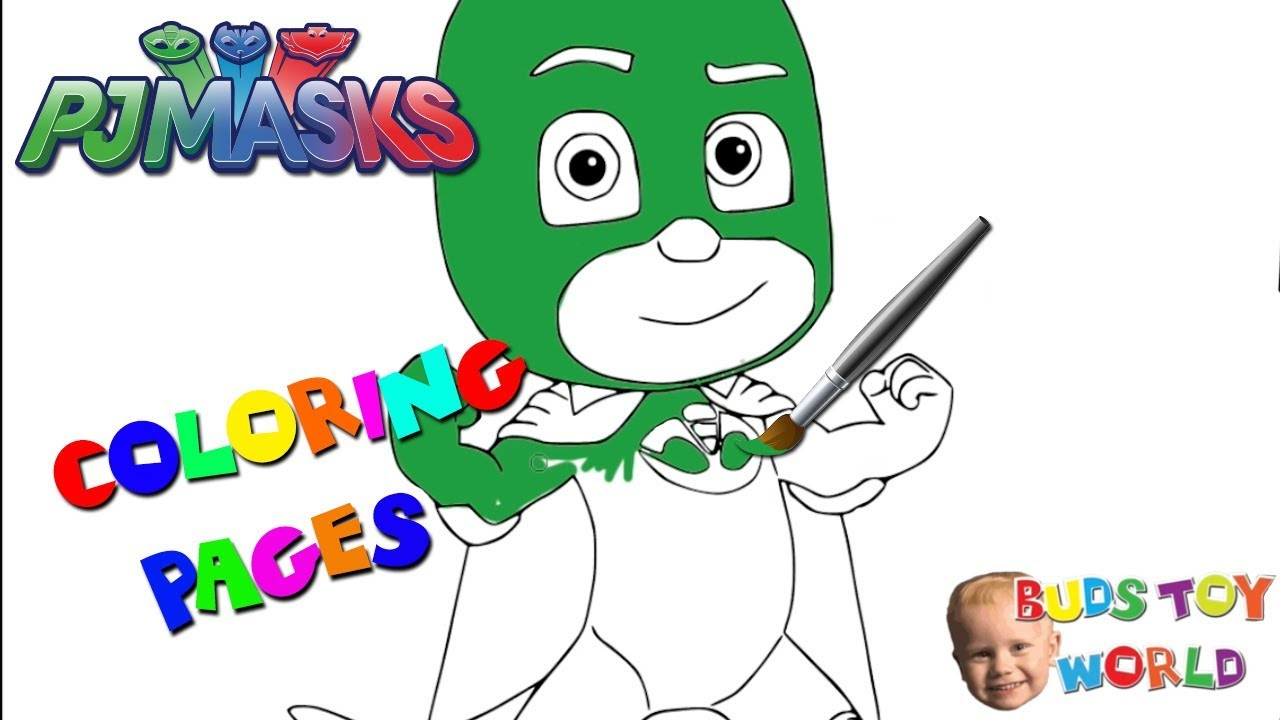pj masks gekko coloring pages fun for kids itsy bitsy spider buds