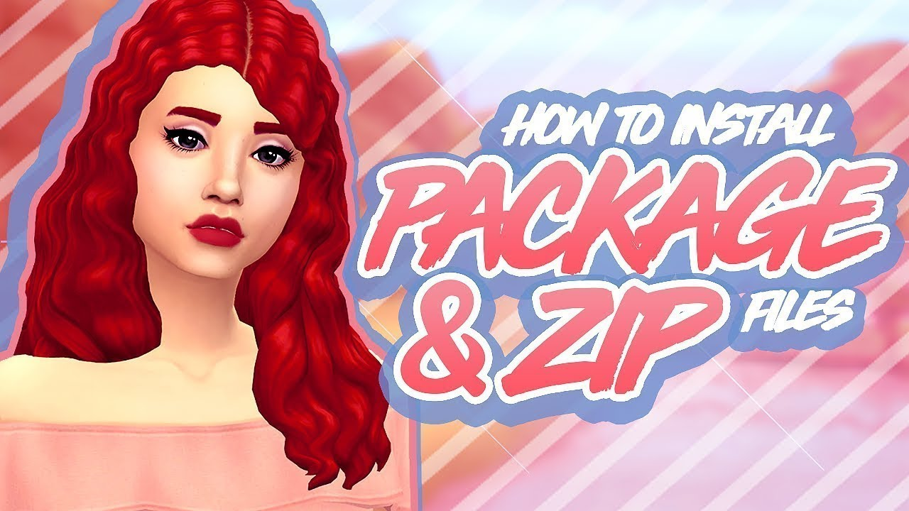 HOW TO INSTALL PACKAGE & ZIP/RAR FILES (EASY) || The Sims 4: CC