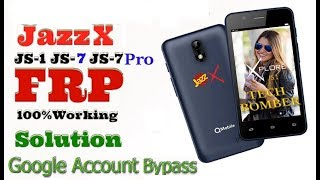QMobile JaZZ X JS 1 FRP  Google Account Bypass  by sp flash tool