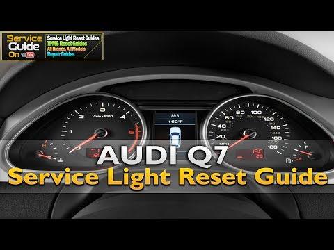 Audi Q7 Service/Oil Light Reset guide