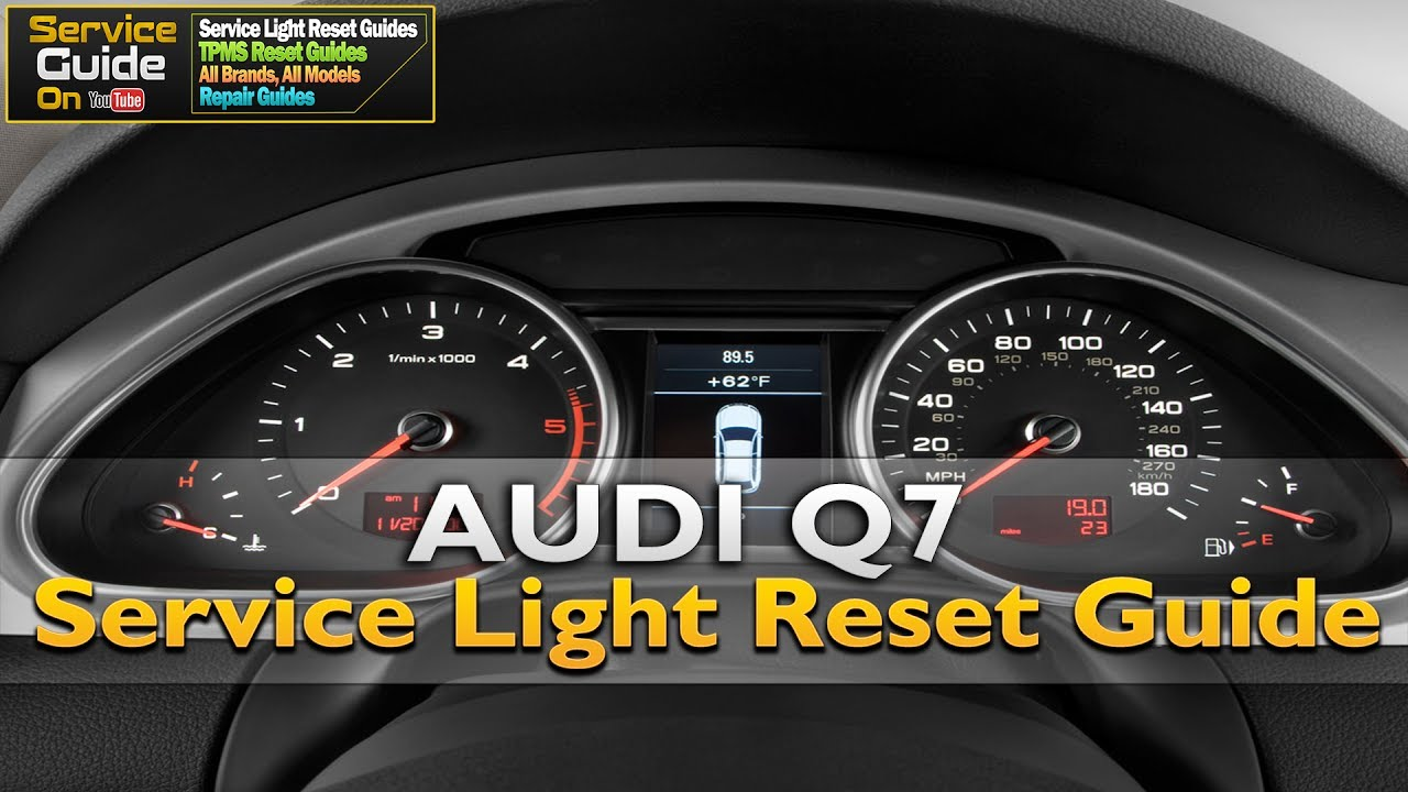 Audi Q7 Serviceoil Light Reset Guide Youtube
