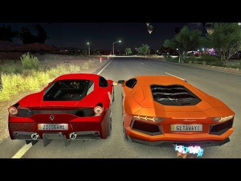 Forza Horizon 3 - Lamborghini Aventador VS Ferrari 458 Speciale - Quem Leva Essa ?