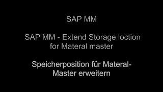 SAP MM - Malzeme ana için Depolama konumu Genişletmek
