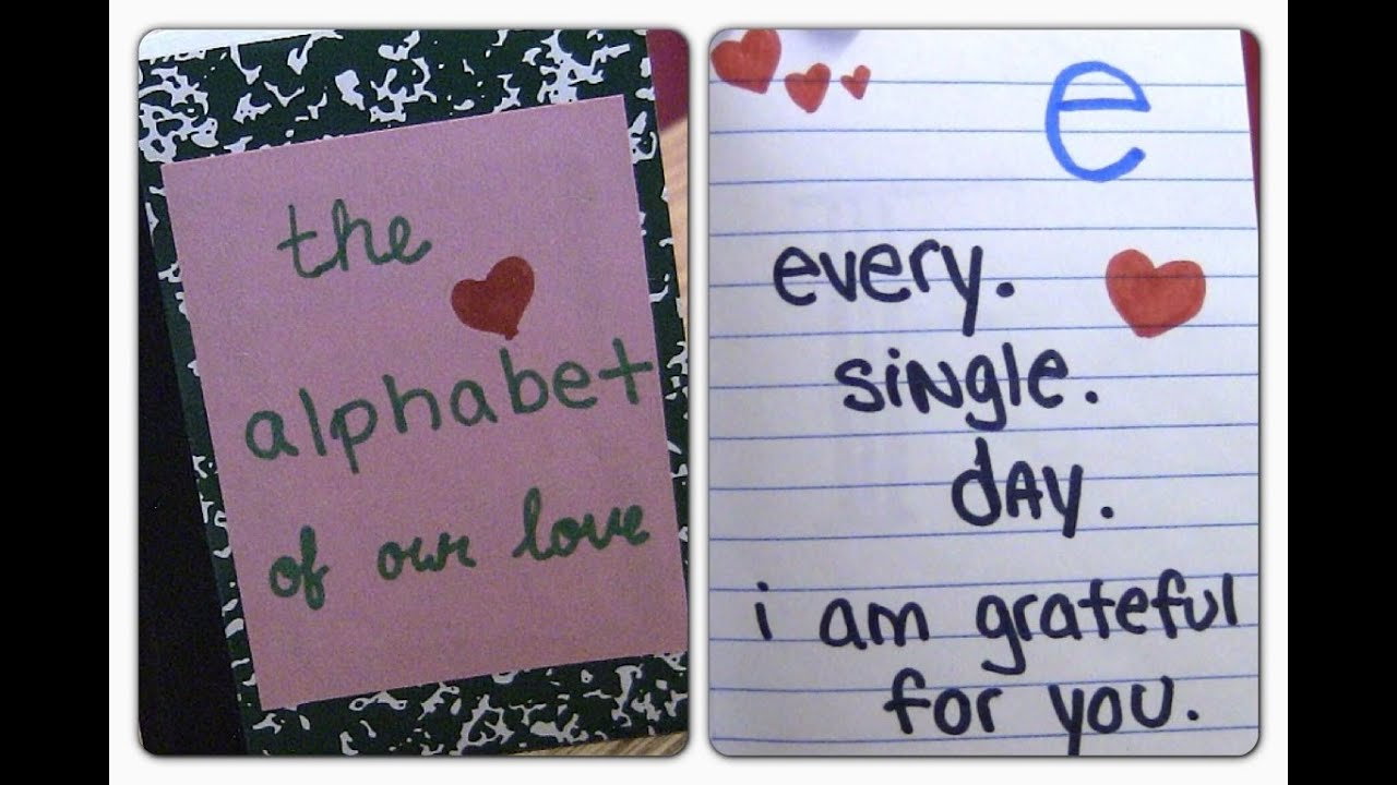 Diy Alphabet Of Love Valentines Day Gift Ideas Diy Gifts For Boyfriend Anniversary Gift Ideas