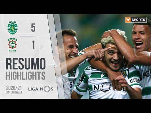 Highlights | Resumo: Sporting 5-1 Marítimo (Liga 20/21 #34)